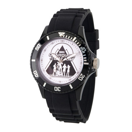 Marvel Guardian Of The Galaxy Marvel Mens Black Strap Watch-Wma000113, One Size , No Color Family