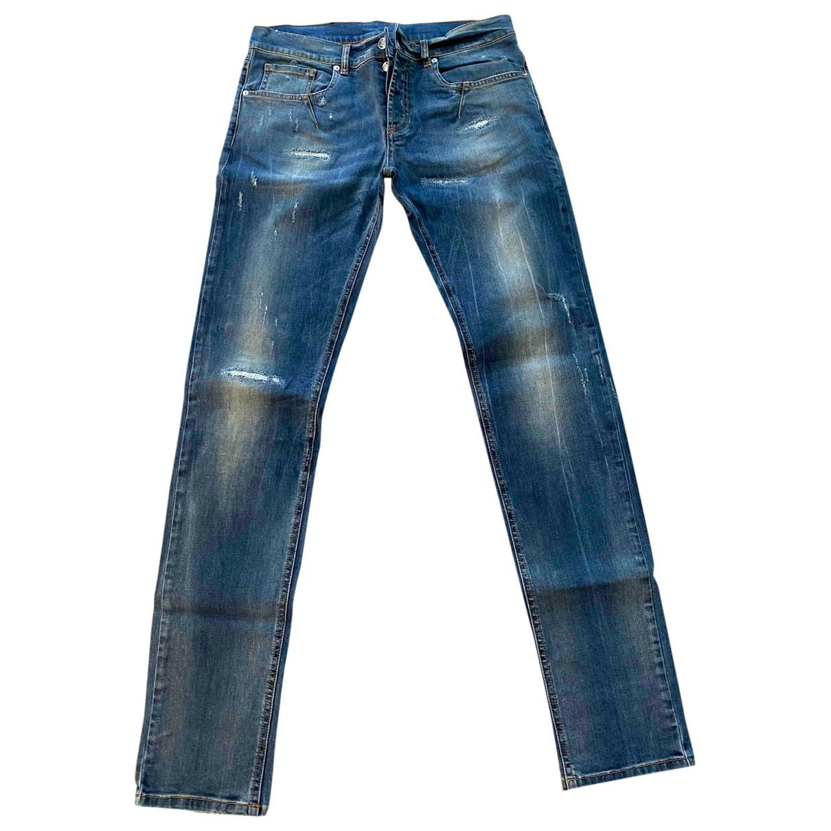 Les Hommes \N Blue Cotton Jeans for Men 34 US