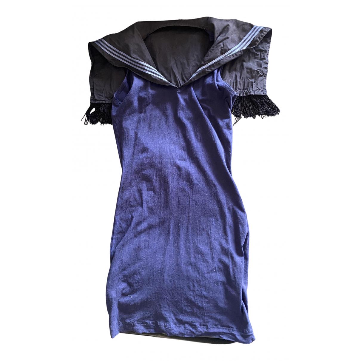 Jean Paul Gaultier \N Blue Cotton - elasthane dress for Women 40 IT