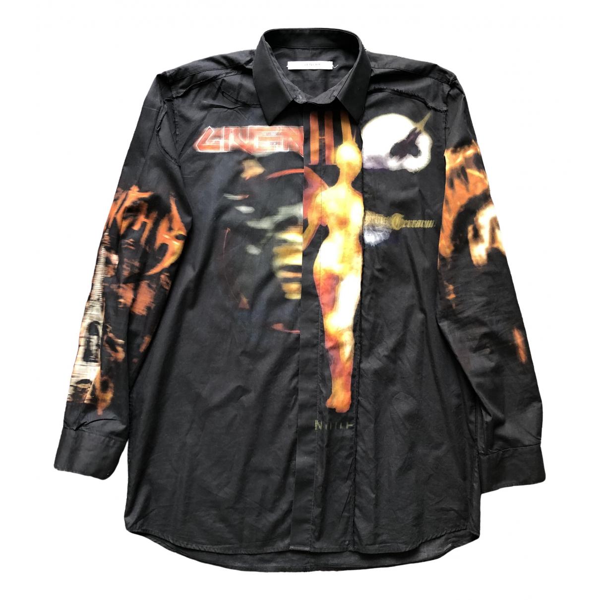 Givenchy \N Black Cotton Shirts for Men 41 EU (tour de cou / collar)