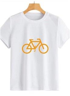 Beddinginn Hand Painted Short Sleeve Round Neck Standard Fall Women's T-Shirt