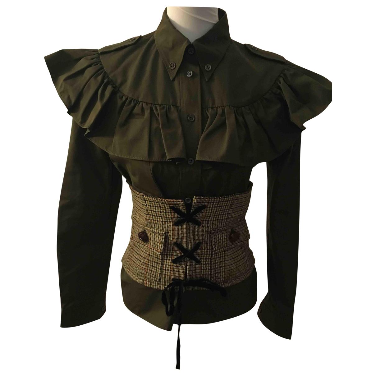 Miu Miu \N Brown Wool  top for Women 42 IT