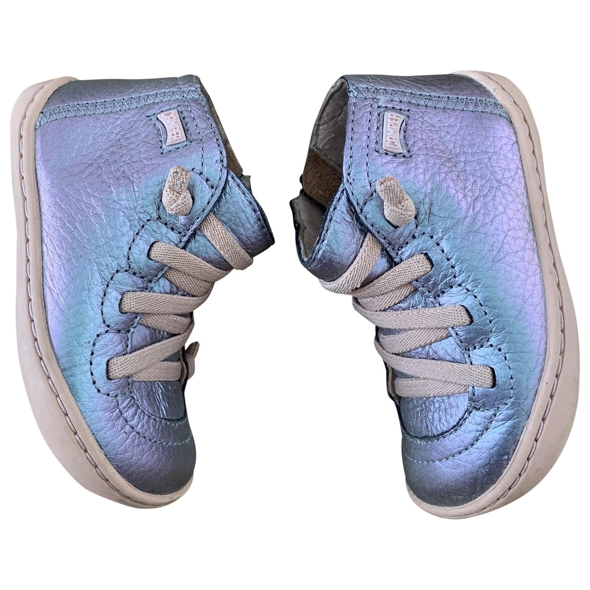 Camper \N Metallic Leather First shoes for Kids 22 EU