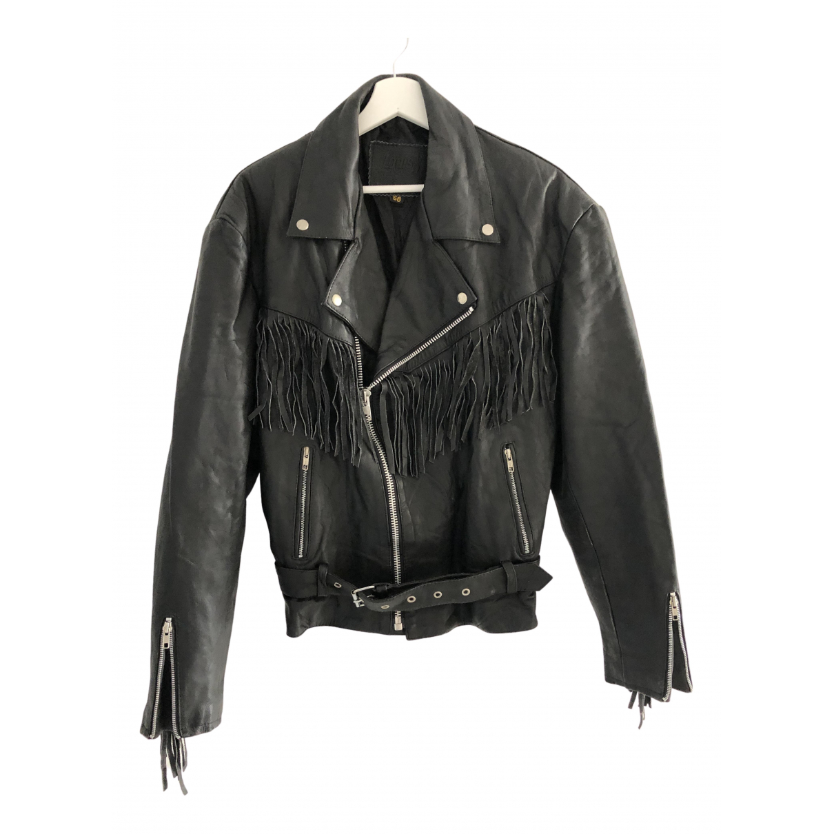 Non Signé / Unsigned \N Black Leather jacket  for Men 56 IT