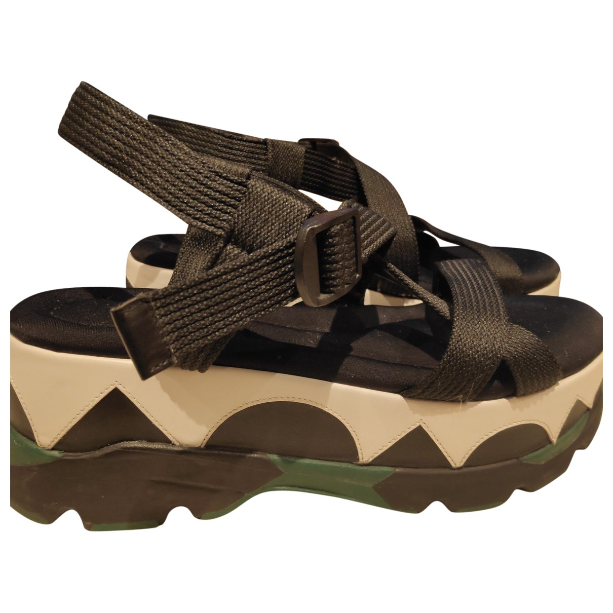 Marni \N Black Rubber Sandals for Women 37 EU