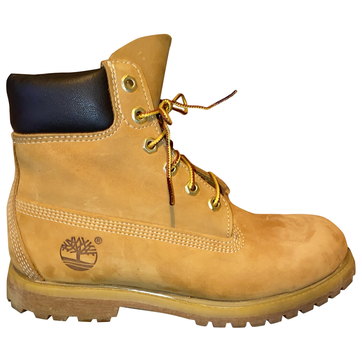 Timberland \N Yellow Leather Ankle boots for Women 38.5 EU