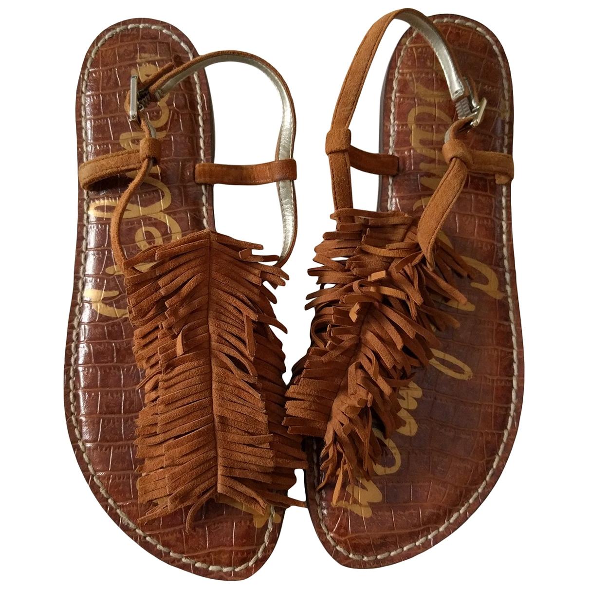 Sam Edelman \N Camel Leather Sandals for Women 38 EU