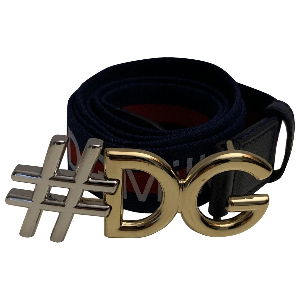 D&g \N Navy Cloth belt for Women 95 cm