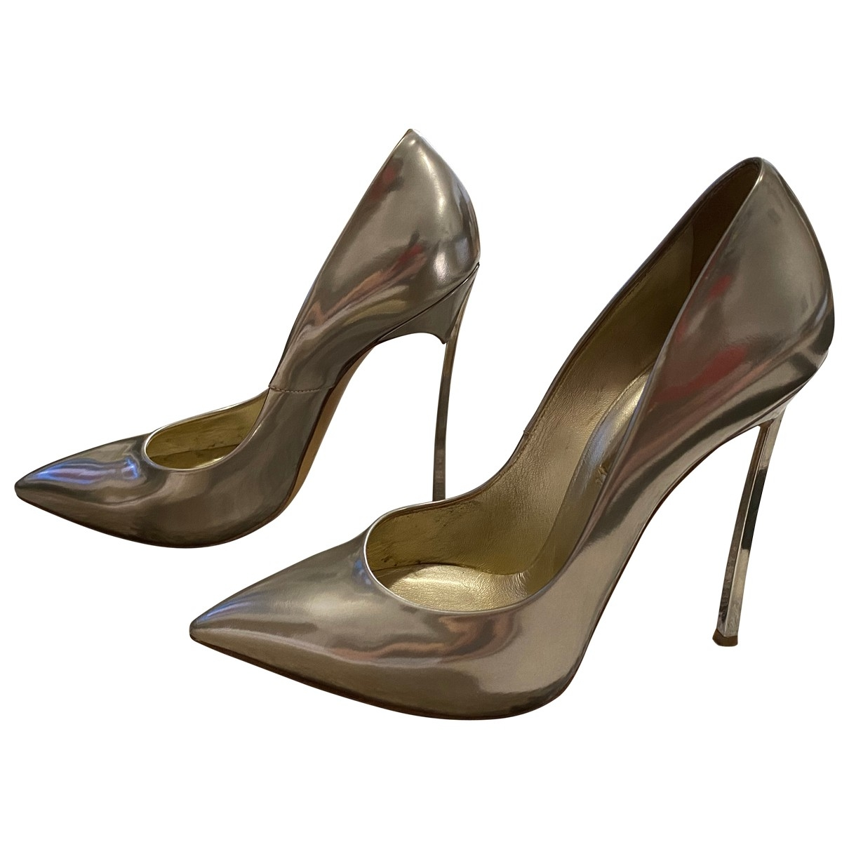 Casadei \N Silver Patent leather Heels for Women 9 US