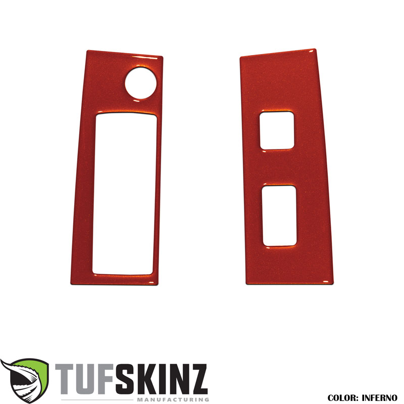 Tufskinz TAC036-FNO-G Access Cab Door Switch Panel Accents Fits 16-up Toyota Tacoma 2 Piece Kit in Inferno Orange