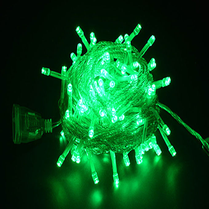 10M Battery Powered 100 LED Starry Fairy String Light Lamp for Festival Party Decoration  - Green Light