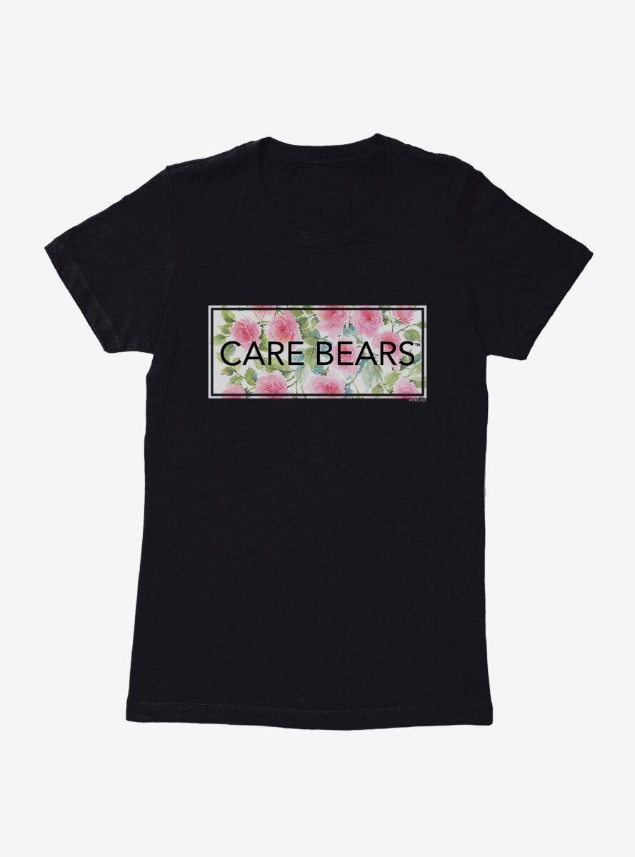 Care Bears Bold Floral Script Womens T-Shirt