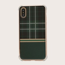 1pc Plaid Pattern iPhone Case