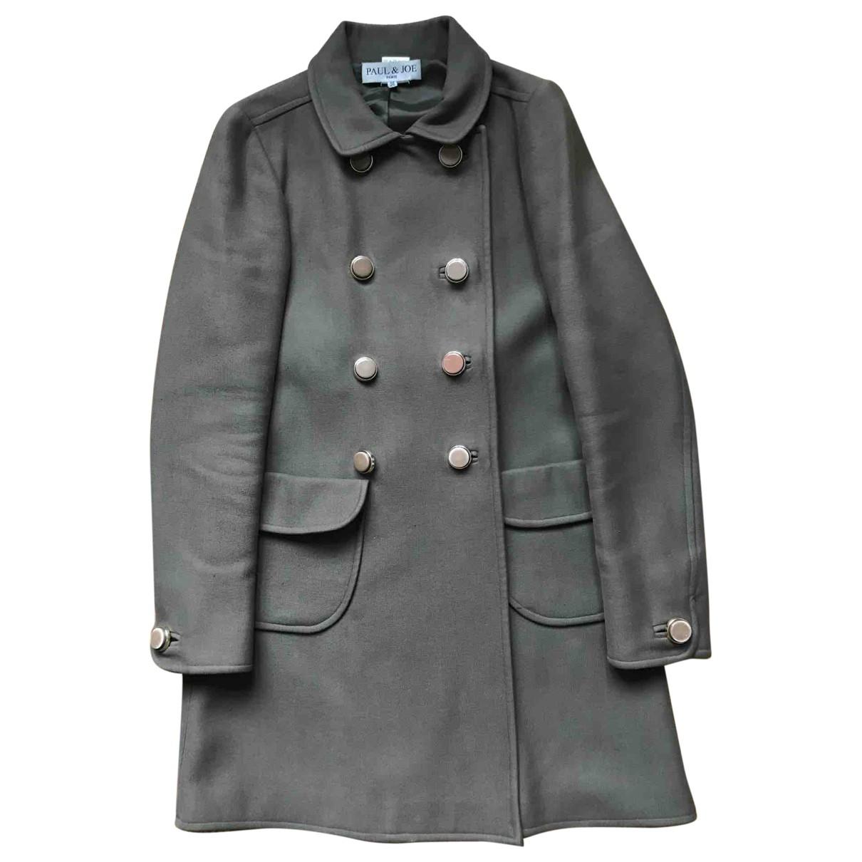 Paul & Joe \N Khaki Wool coat for Women 36 FR