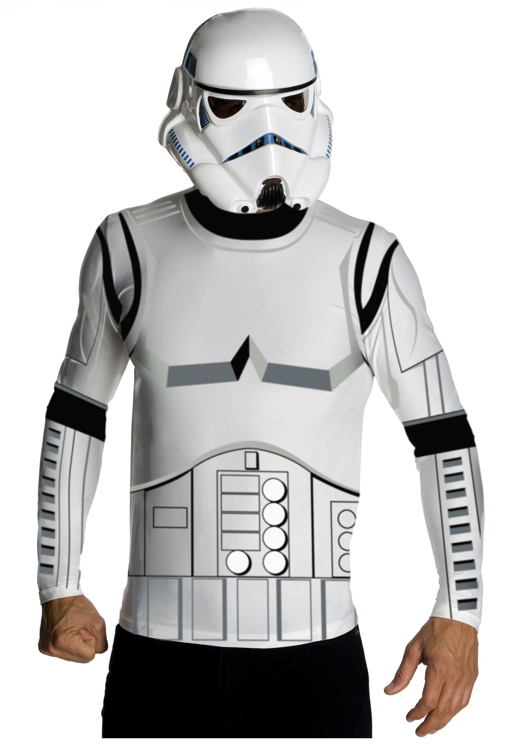 Adult Stormtrooper Costume Top and Mask