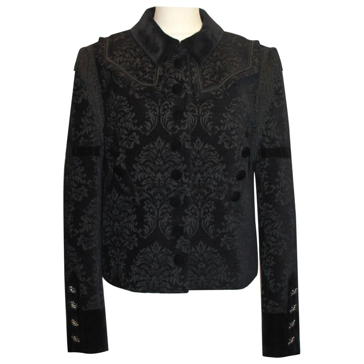 The Kooples \N Black Velvet jacket for Women 38 FR
