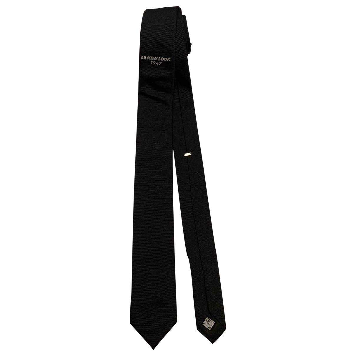 Dior \N Black Silk Ties for Men \N