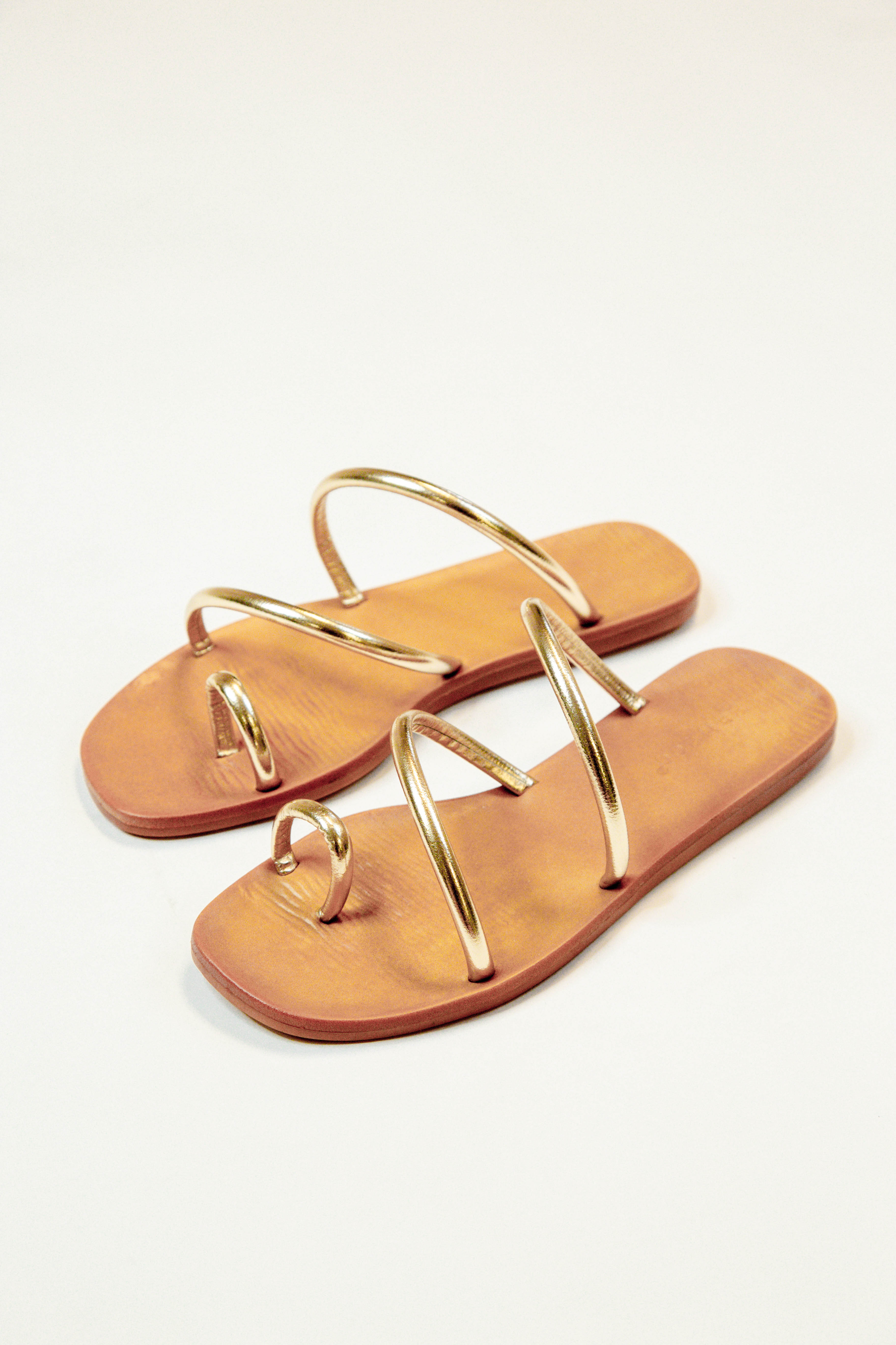 Sunbathe Strappy Sandal Gold Metallic