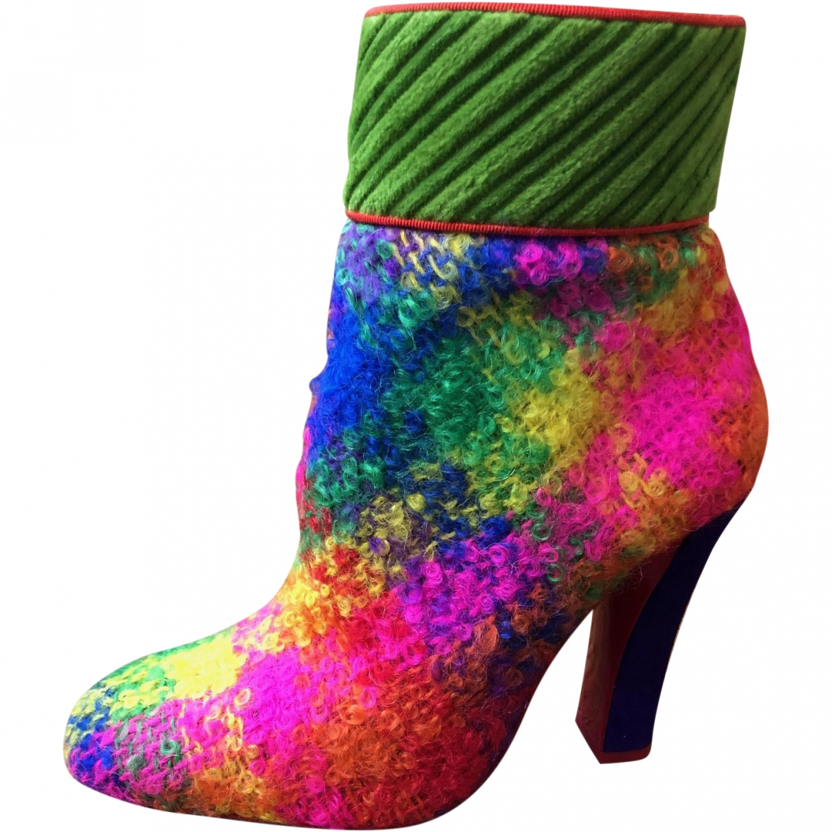 Christian Louboutin \N Multicolour Cloth Ankle boots for Women 38.5 EU