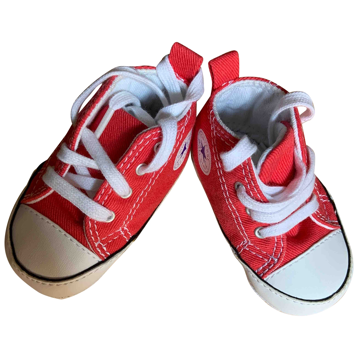 Converse \N Red Cloth First shoes for Kids 17 EU