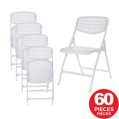 Chaise pliante, blanc, 60/ paquet - Moustache®