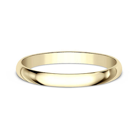 Womens 2 mm 14K Gold Wedding Band, 10 , No Color Family