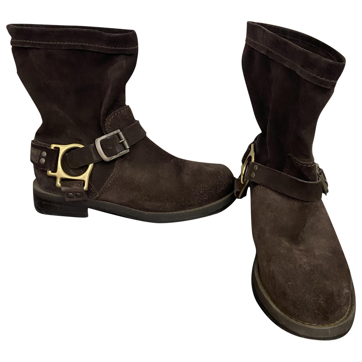Dolce & Gabbana \N Brown Suede Ankle boots for Women 36 EU