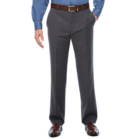 Stafford Travel Wool Blend Stretch Classic Fit Suit Pants, 34 34, Gray