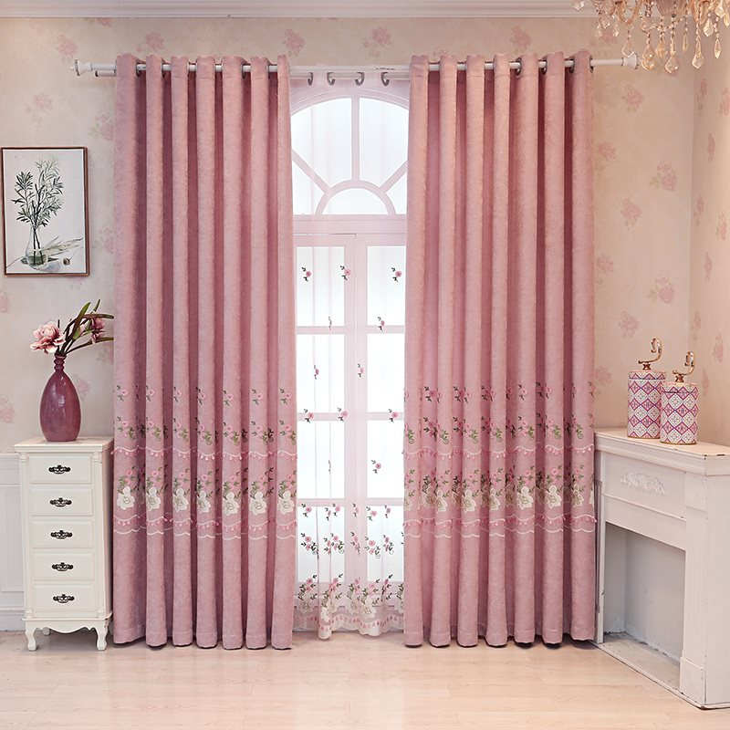 Decoration and Blackout Pink Princess Grommet Curtains For Living Room and Bedroom