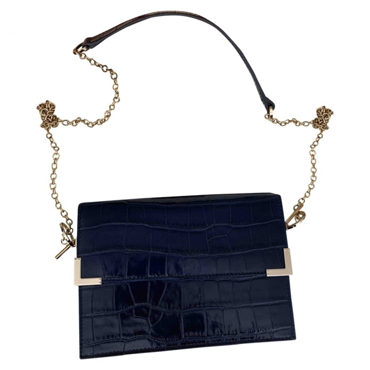 Aspinal Of London \N Navy Patent leather handbag for Women \N