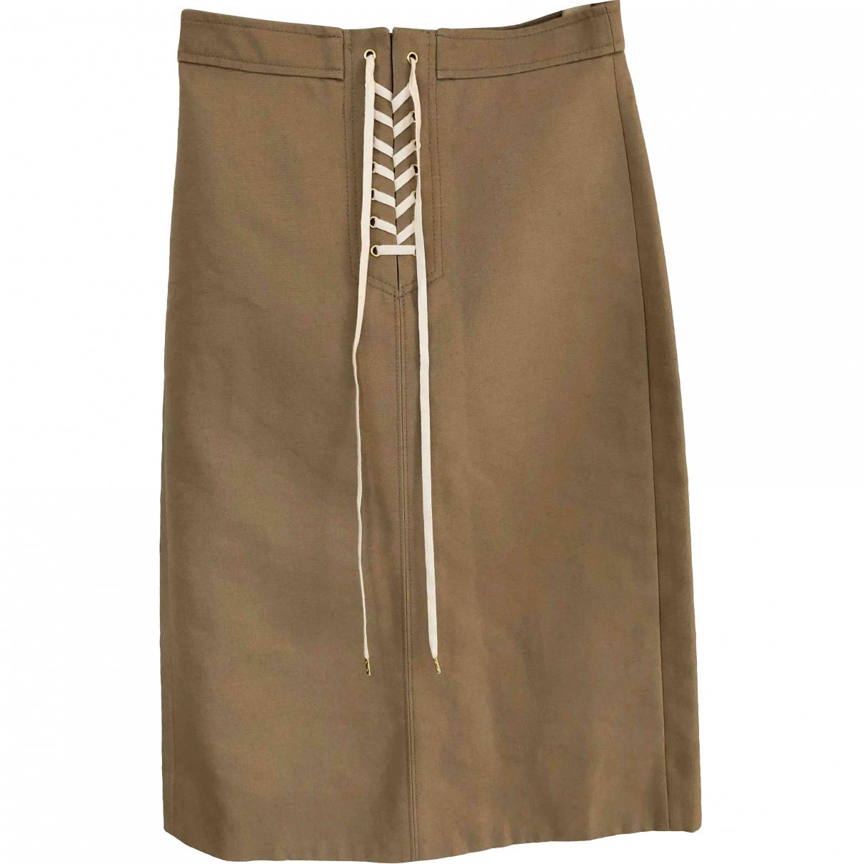 J.crew \N Camel Cotton skirt for Women 34 FR