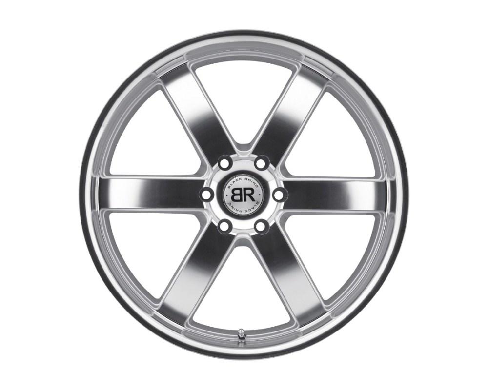 Black Rhino Pondora Silver w/ Machine Cut Face & Lip Wheel 20x8.5 6x114.30|6x4.5 18mm CB76