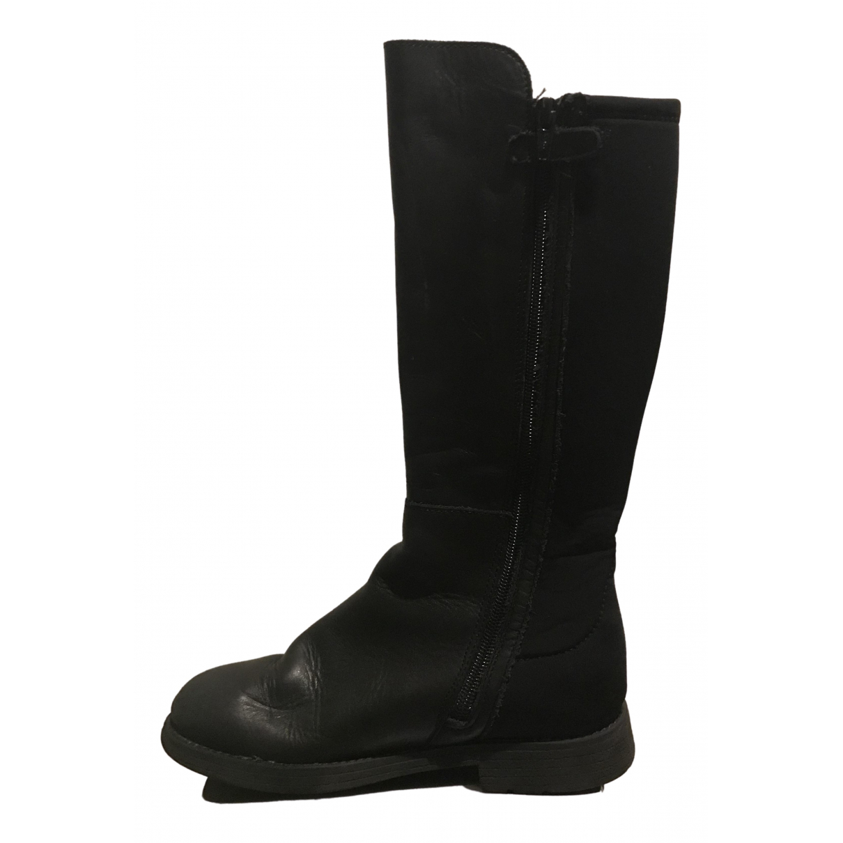 Stuart Weitzman \N Black Leather Boots for Kids 33 FR