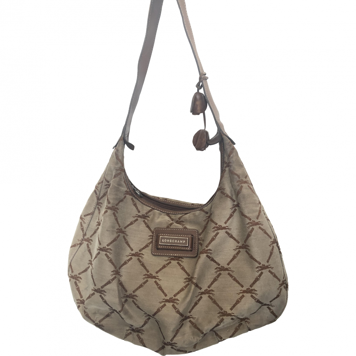 Longchamp \N Camel Cloth handbag for Women \N