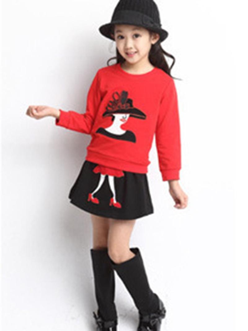 Ericdress Elegant Girl Print Girl's 2-Pcs Outfit