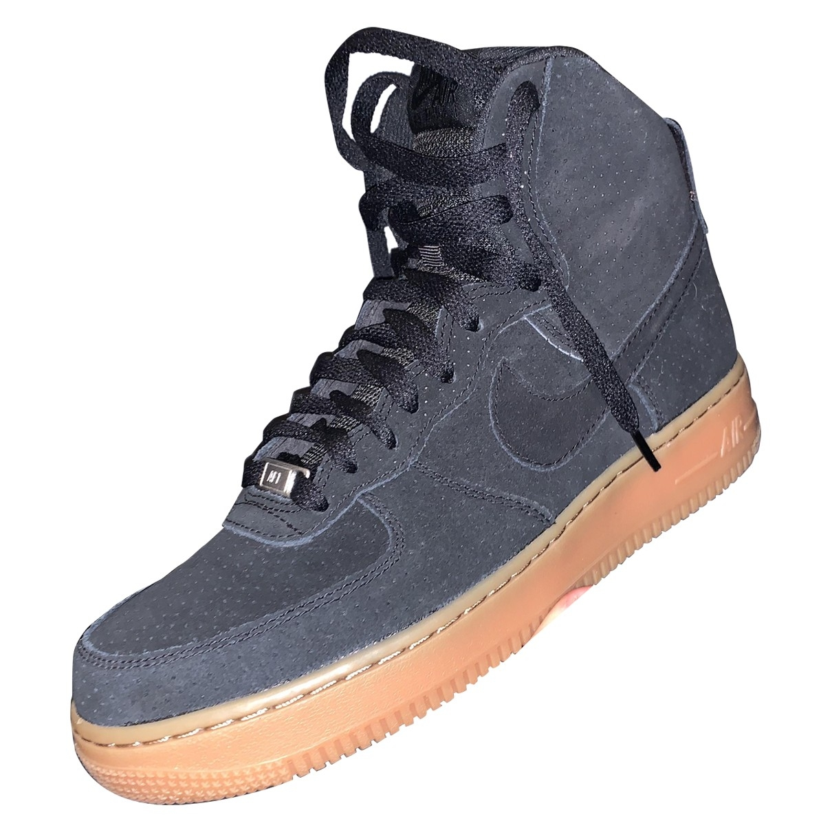 Nike Air Force 1 Black Suede Trainers for Men 42 EU