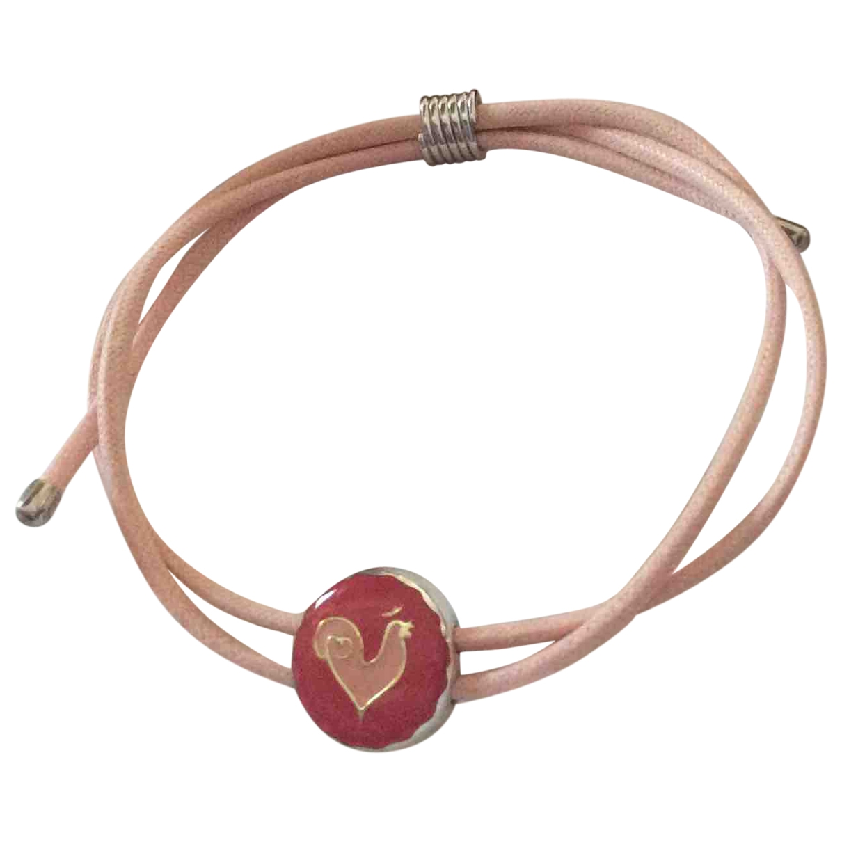 Non Signé / Unsigned \N Pink Silver bracelet for Women \N