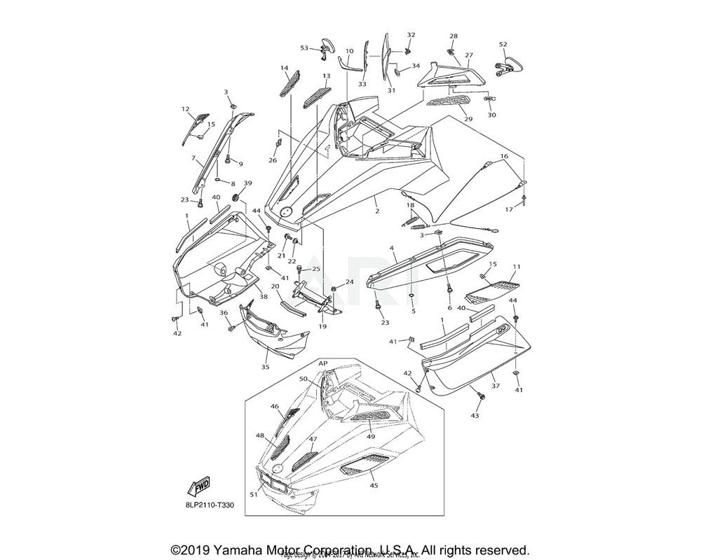 Yamaha OEM 8KW-77231-00-P0 FAIRING | UR FOR MS1