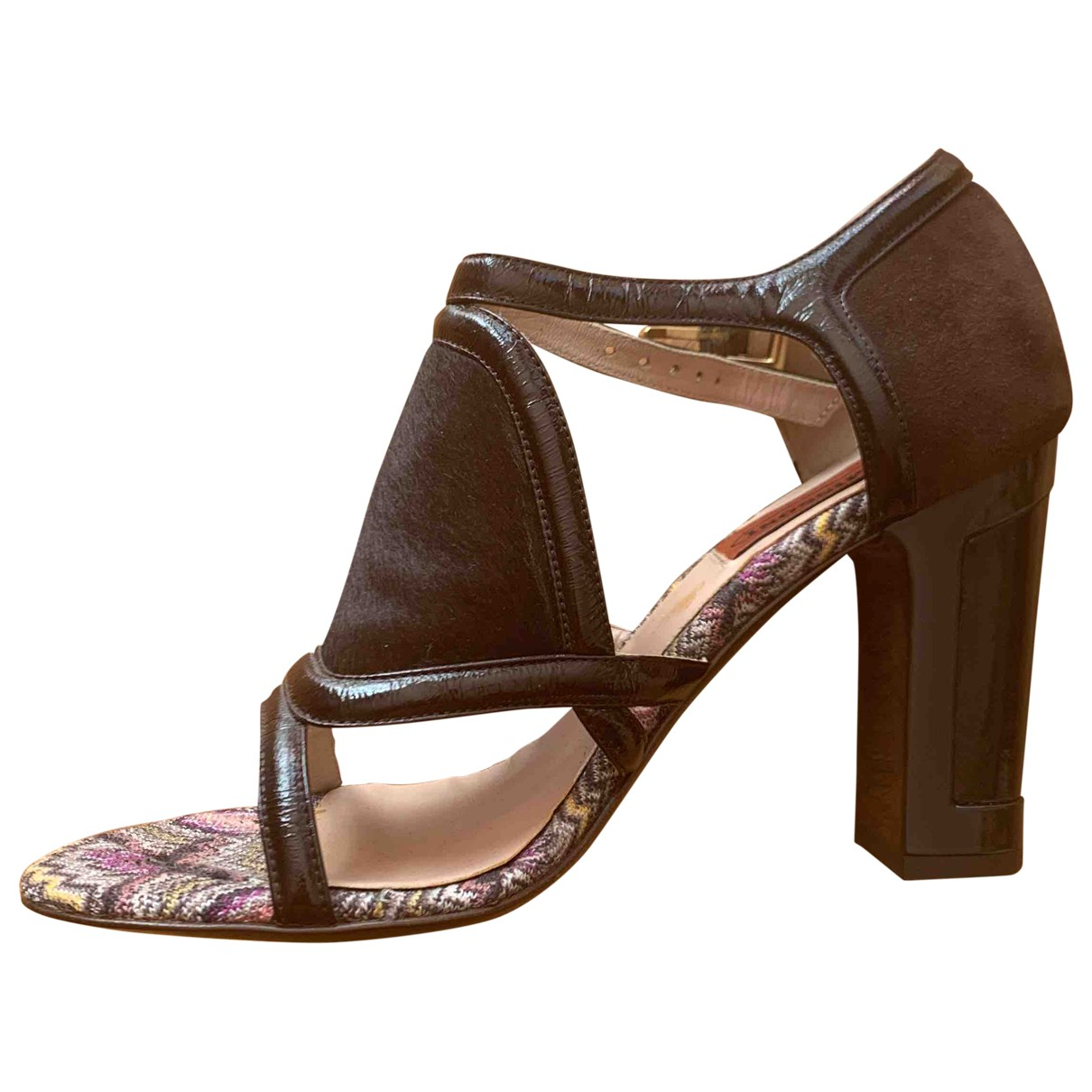 Missoni \N Brown Leather Sandals for Women 36.5 EU