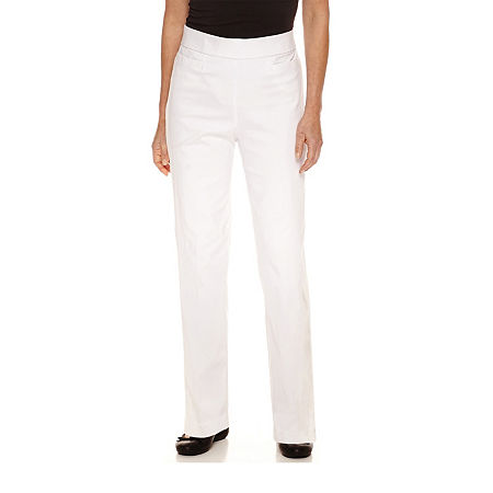 Alfred Dunner Classics Womens Allure Stretch Pant, 16 , White