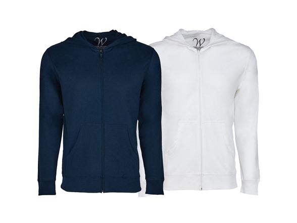 2-pack Ultra Soft Sueded Zip Up Hoodie