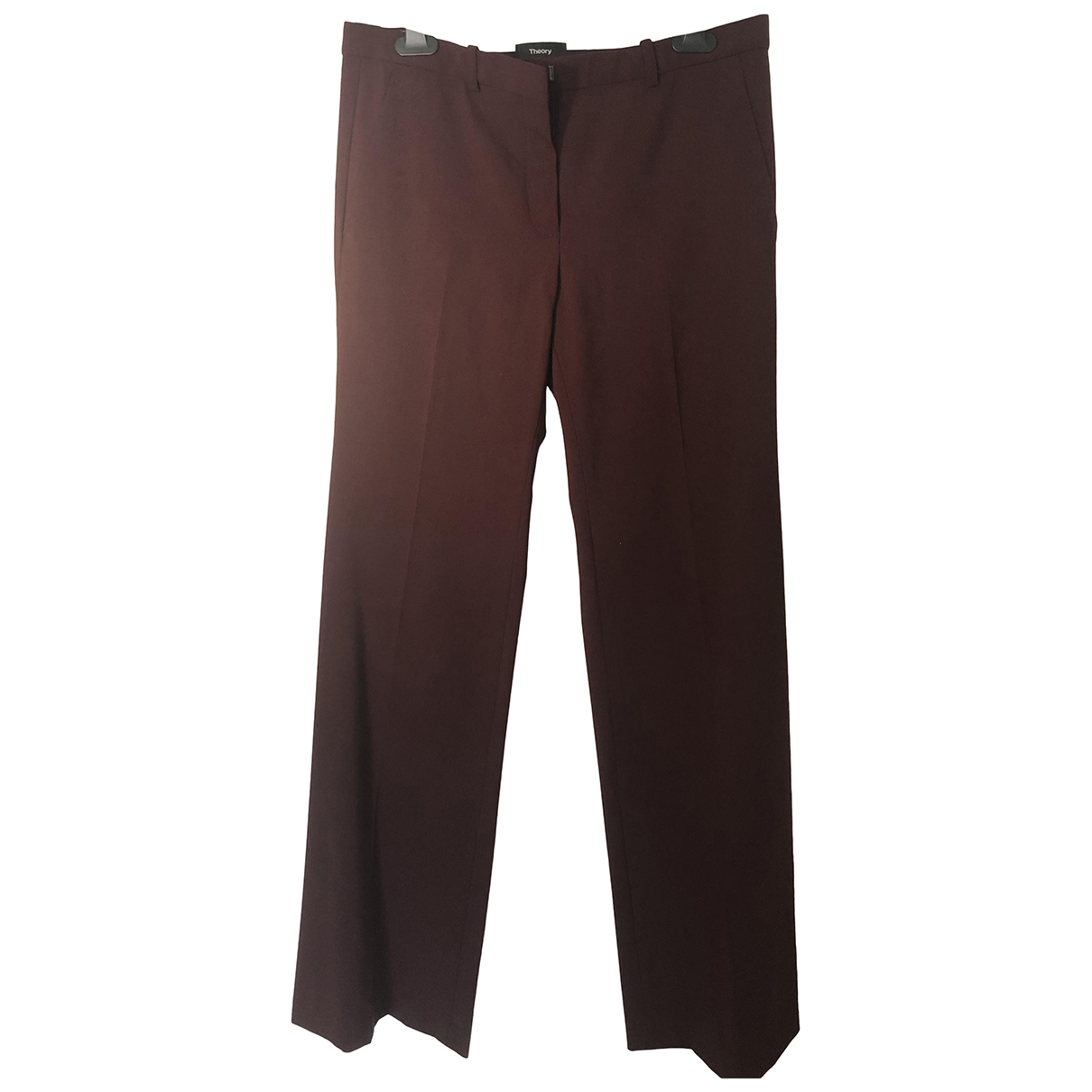 Theory \N Red Wool Trousers for Women 6 US