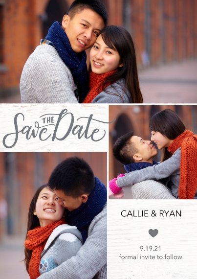 Save the Date Flat Matte Photo Paper Cards with Envelopes, 5x7, Card & Stationery -Save Date Heart by Tumbalina