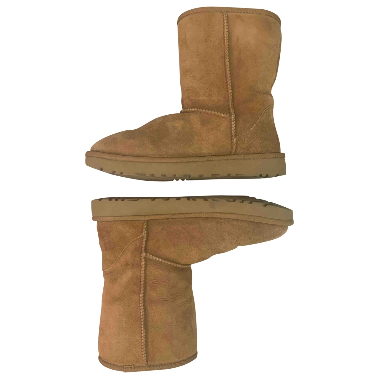 Ugg \N Camel Suede Boots for Women 7 US