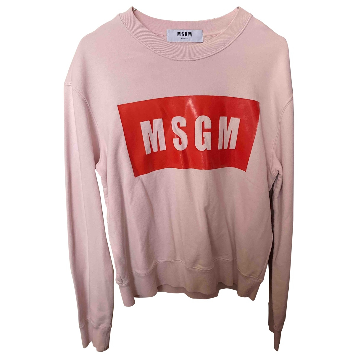 Msgm \N Pink Cotton Knitwear for Women M International
