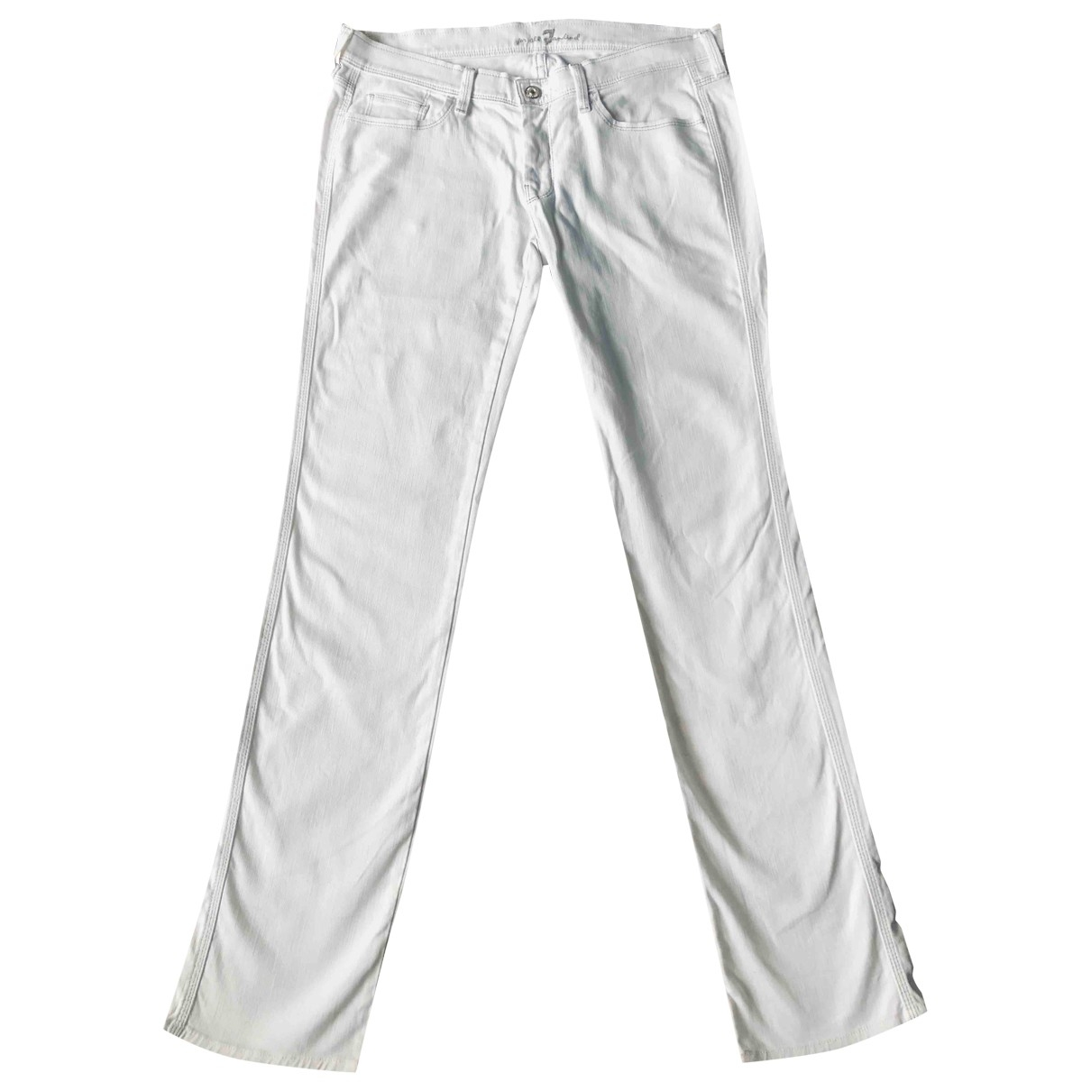 7 For All Mankind \N White Cotton Jeans for Women 31 US