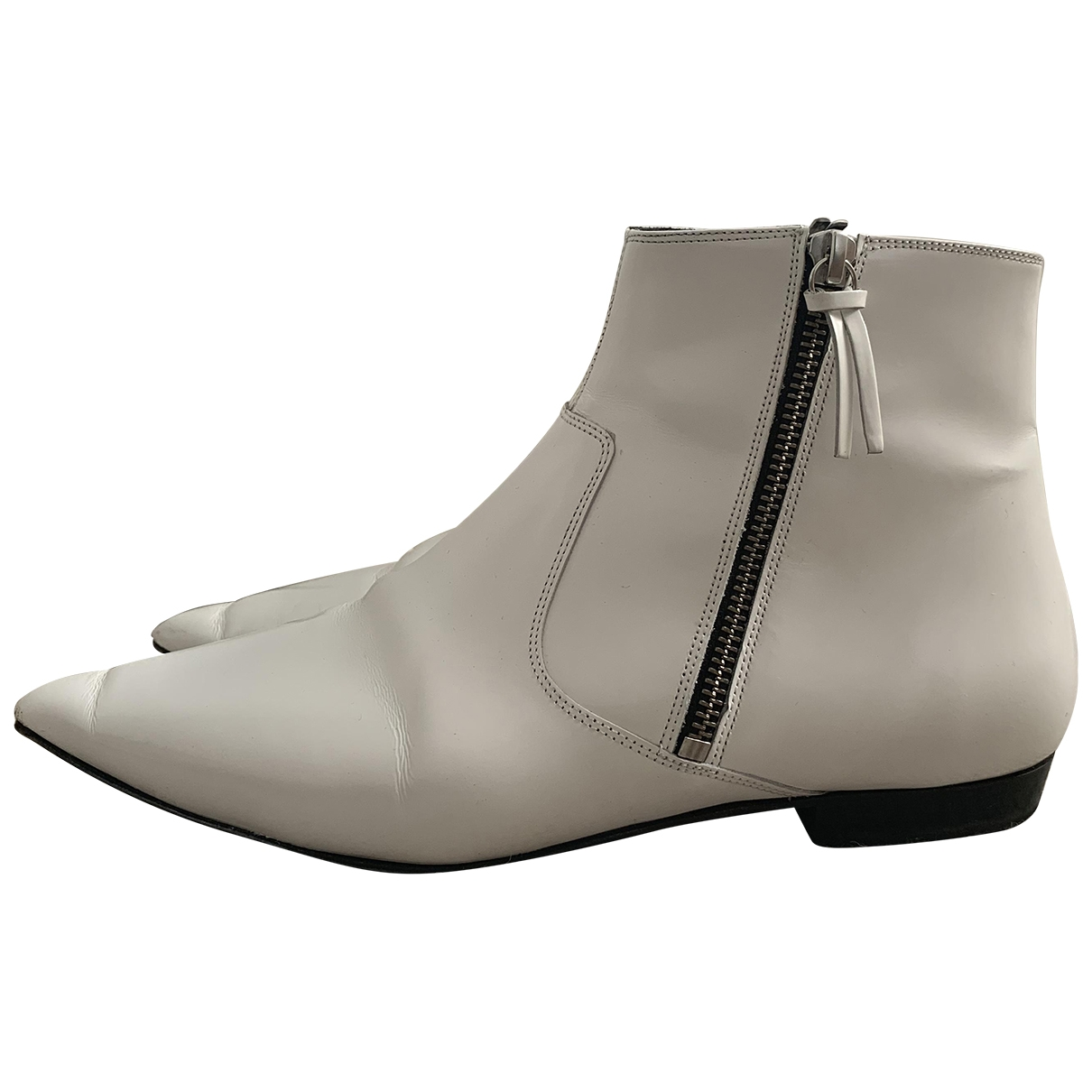 Isabel Marant \N White Patent leather Boots for Women 38 EU