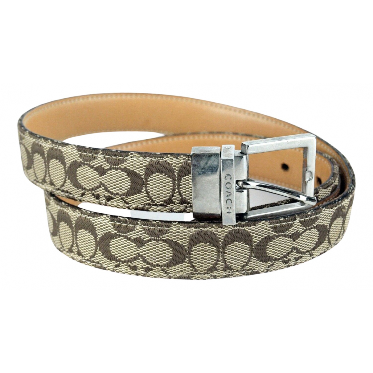 Coach \N Brown Cloth belt for Women 31 Inches