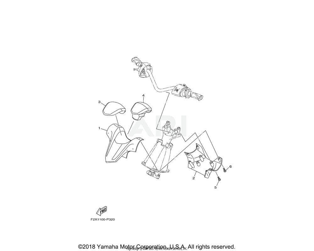 Yamaha OEM F2X-U142D-20-00 COVER, PAD | FOR BLUE
