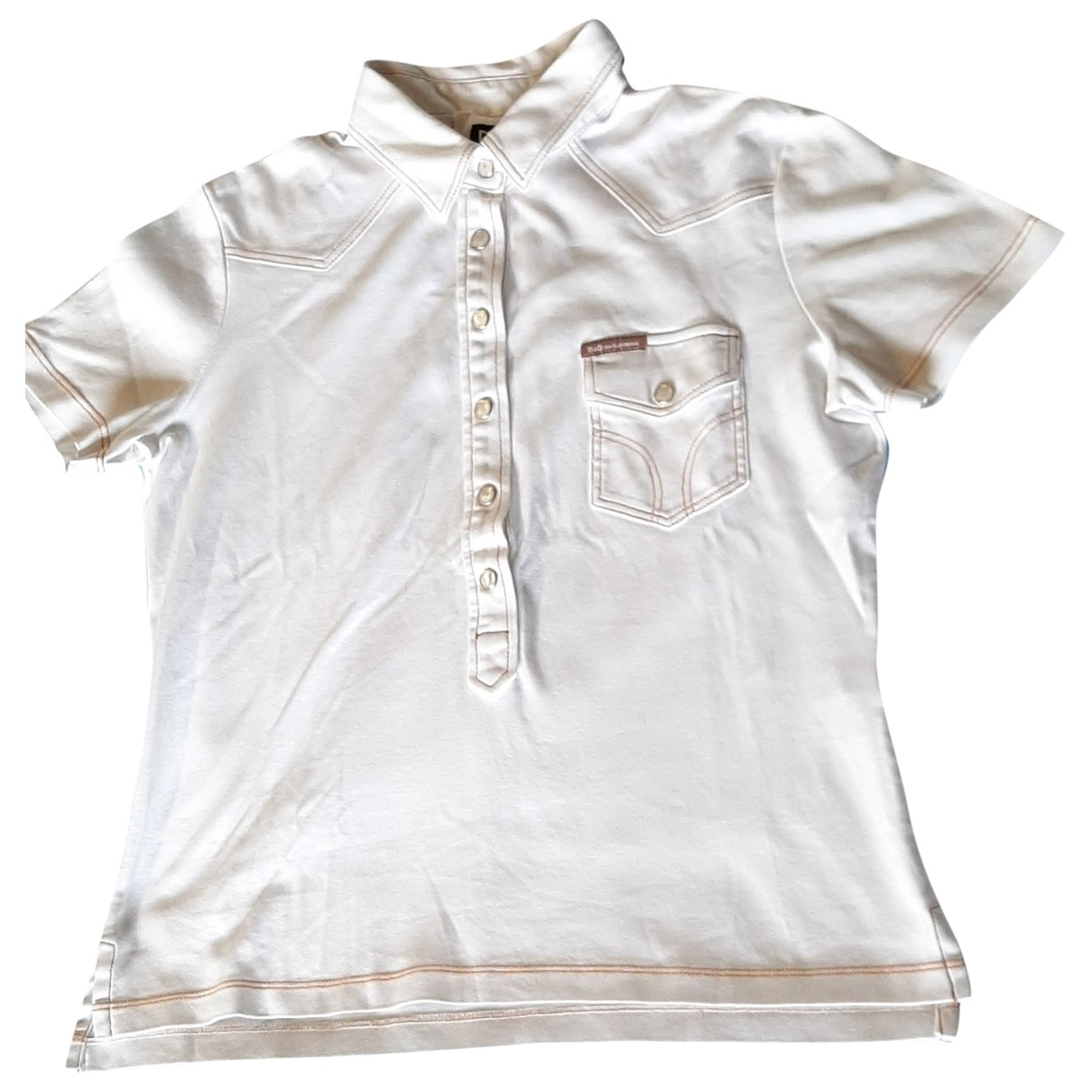 D&g \N White Cotton  top for Women 46 IT